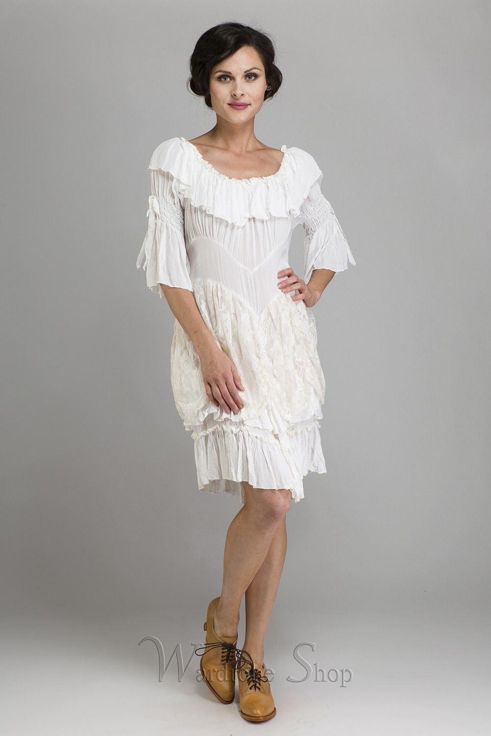 Cow Ruffled Western Wedding Medium Dress By Marrika Nakk Inspired Dresses Gowns Outfit