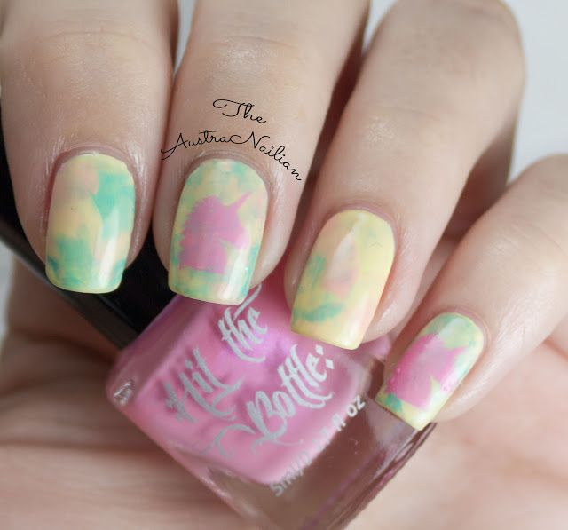 Unicorn Smoosh Marble Nail Art | Marble nail art, Marble nails and ...