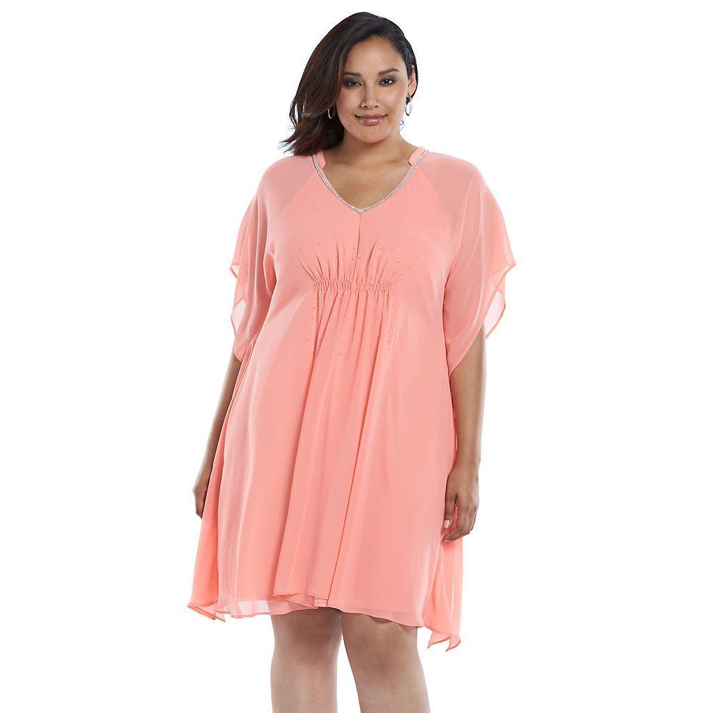 Plus Size Jennifer Lopez Caftan V Neck Dress