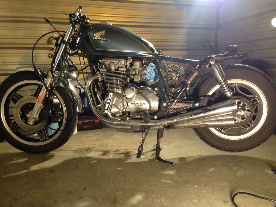 Cb650c Beginning Of Cafe Racer Build The Tear Down