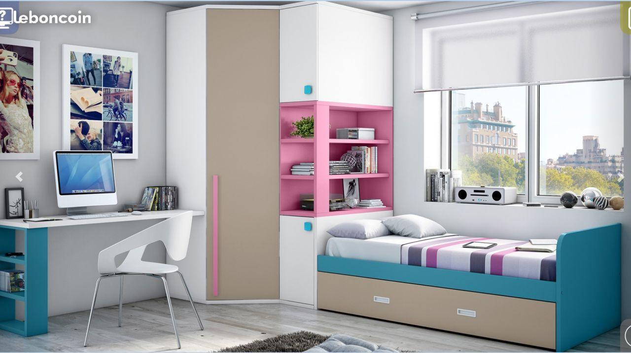lit gain de place ameublement paris chambre kaina. Black Bedroom Furniture Sets. Home Design Ideas