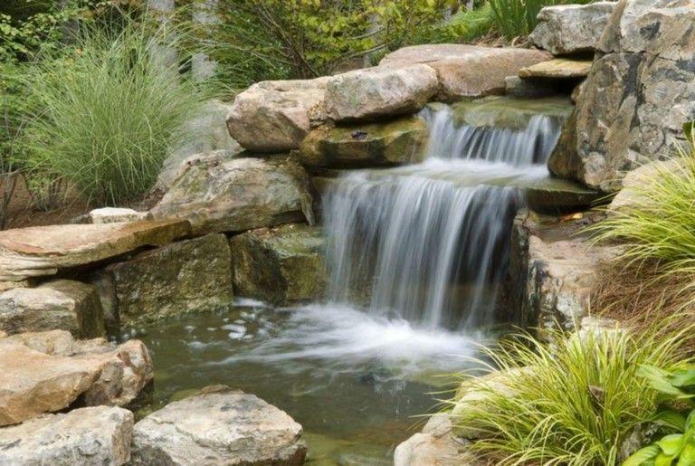 44 Beauty Small Backyard Waterfall Design Ideas Pond Waterfall