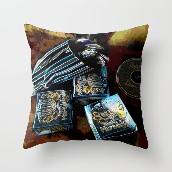 Happy Hanukkah DPGPA151024a  Throw Pillow