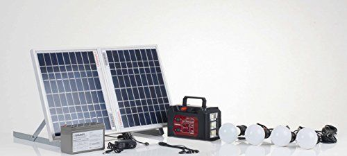 Sparkel Solar Rechargeable Multipurpose Lighting Mini Inverter System - SPSHLS-400