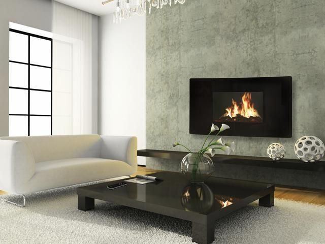 Celsi Puraflame Curved Wall Mounted Lcd Electric Fire Wall Hung Electric Fires Indoor Fireplace Wall Mounted Fireplace