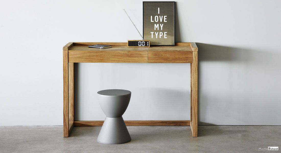Console Ethnicraft Luxembourg Ethnicraft Furniture Frame Desk Wood Console Table