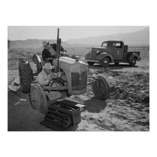 Manzanar Mechanic, 1940s Ansel Adams Posters