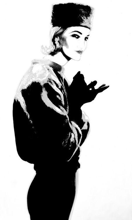 Sunny Harnett - Photo by Lillian Bassman, 1951. S)