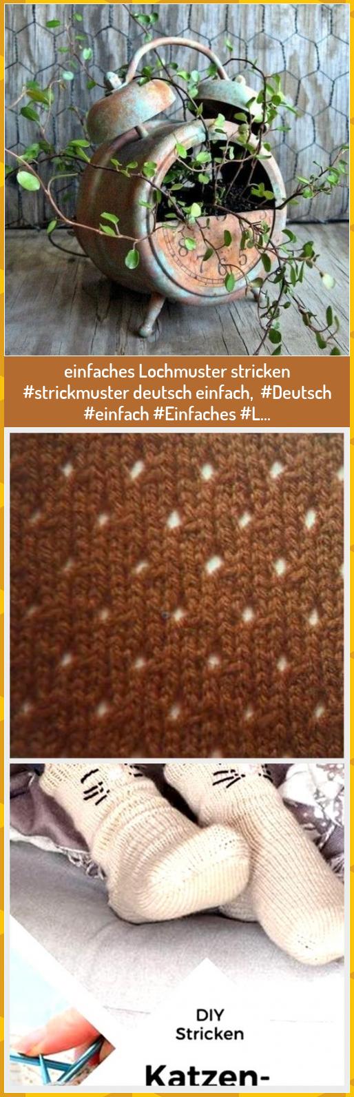 Photo of einfaches Lochmuster stricken #strickmuster deutsch einfach,  #Deutsch #einfach …