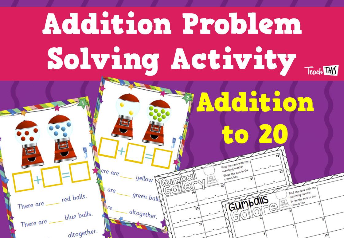 Addition Problem Solving Cards