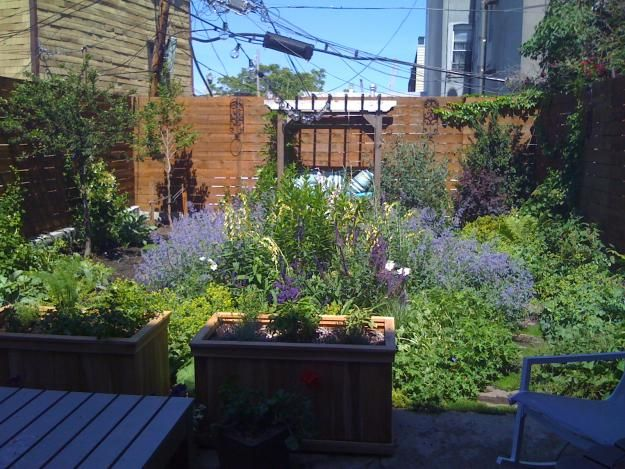 Atmospheric Small Urban Garden Transformation