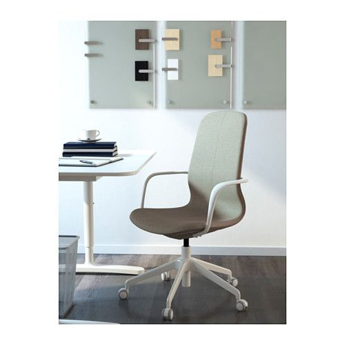 l ngfj ll drehstuhl gunnared hellgr n wei ikea arbeitsplatz drehstuhl st hle und b ros. Black Bedroom Furniture Sets. Home Design Ideas