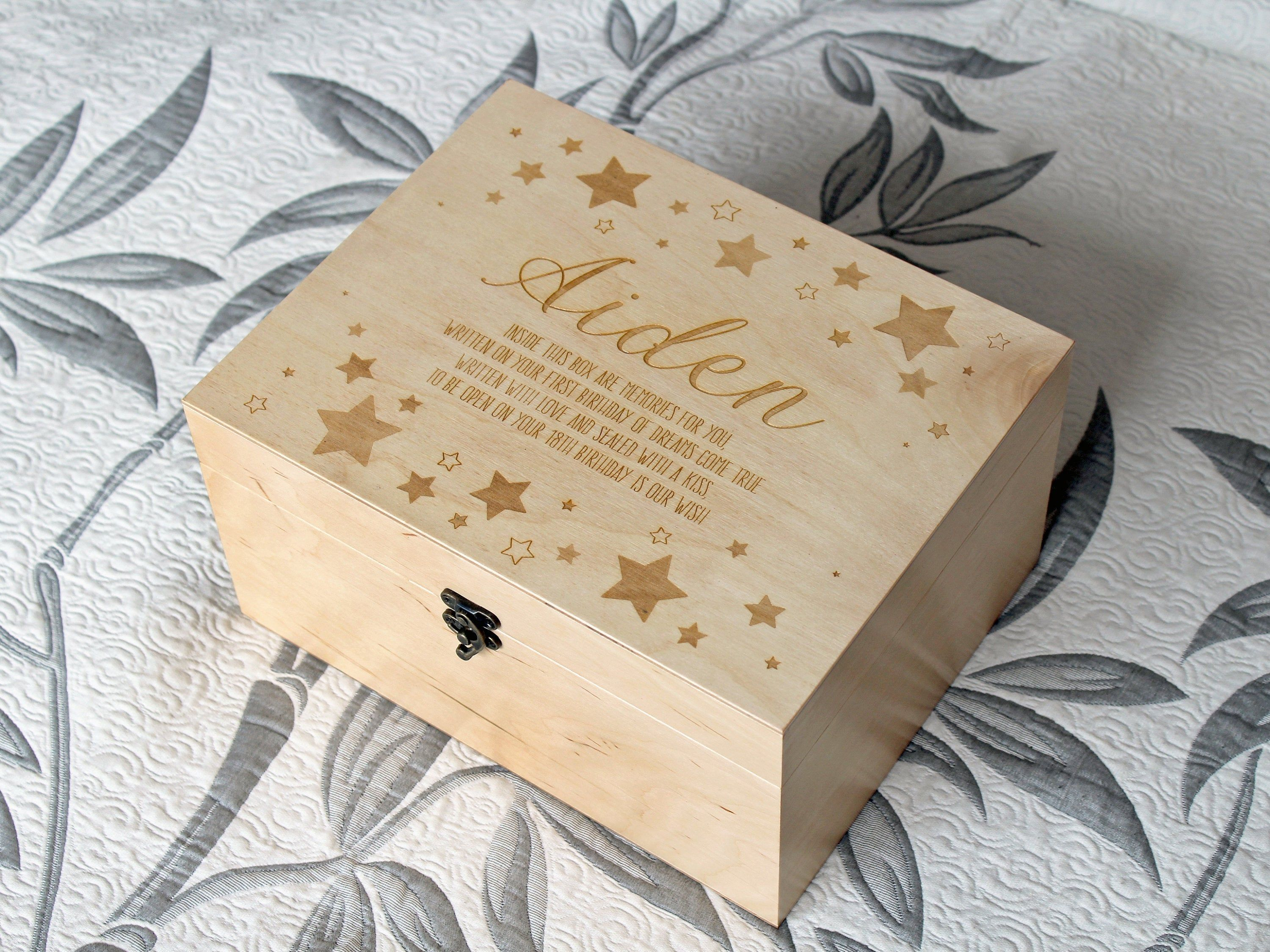 Newborn Gifts Personalised New Baby Boy Acrylic Star Special Keepsake For Baby