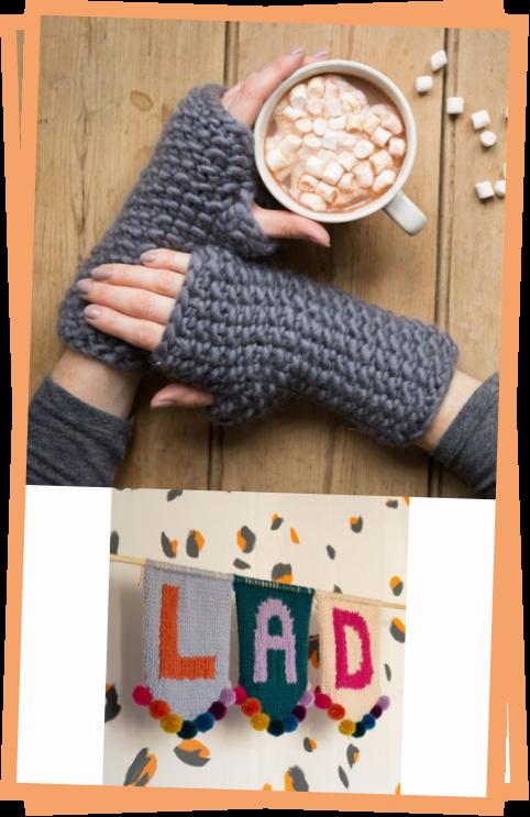 Photo of Ivy Hat And Fingerless Gloves Knitting Kit