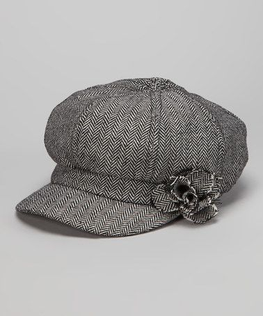 a6a76dab0f4420 $7 Take a look at this Gray Rosette Newsboy Cap by The Accessory Collective  on #zulily today!