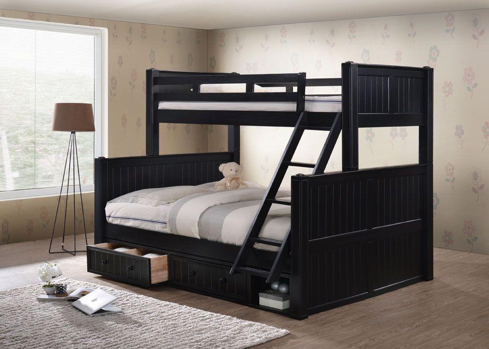 Dillon Extra Long Twin Over Queen Bunk Bed Versatile Xl Black
