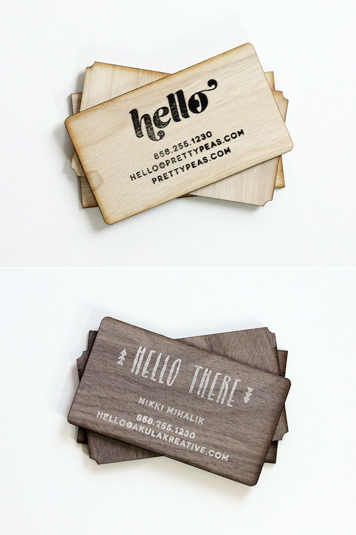 Diy Stamped Wood Business Cards Maple And Walnut Wood Business