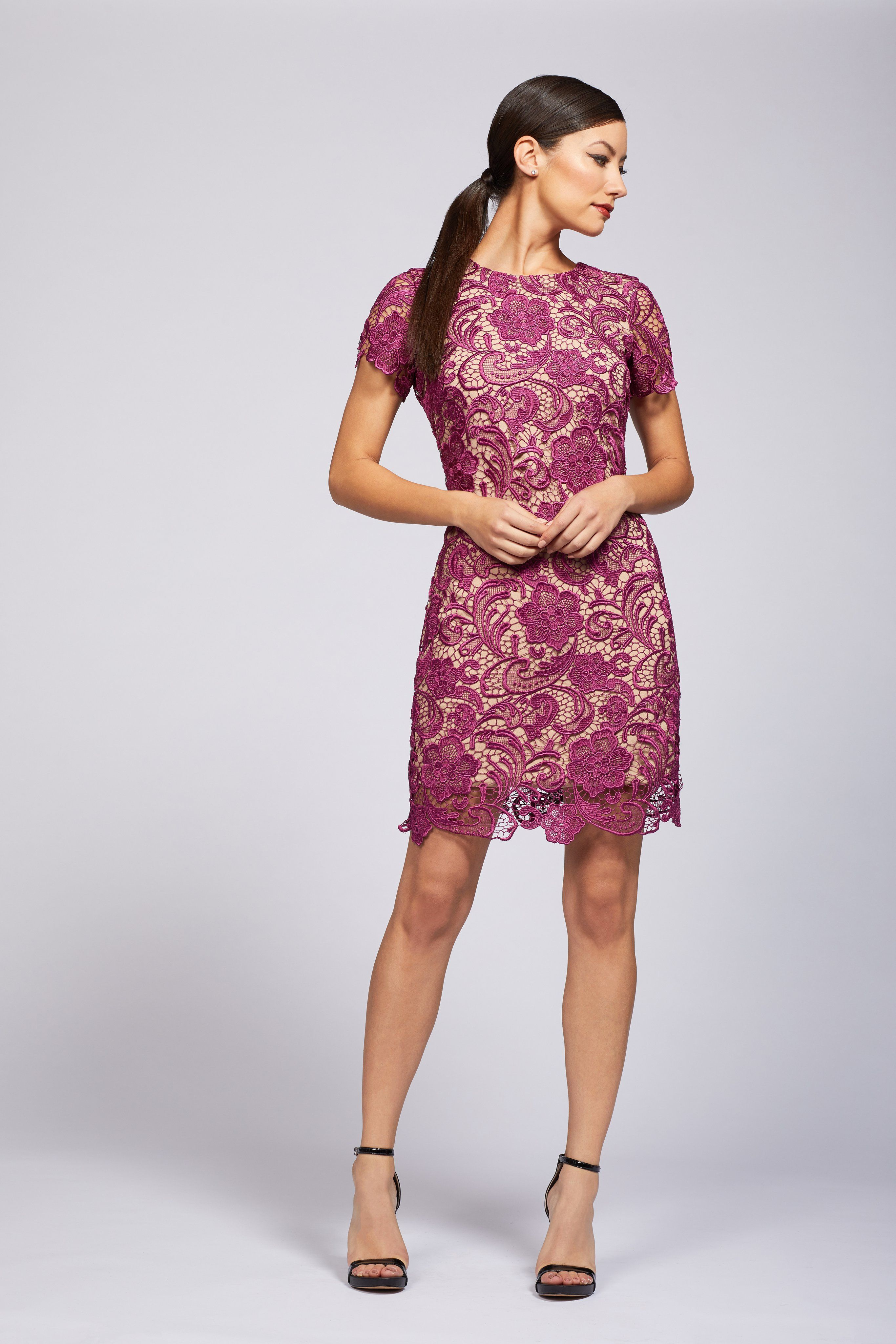 373691d5 Anna Crochet Lace Shift Dress From DRESS THE POPULATION – Today's Fashion  Item