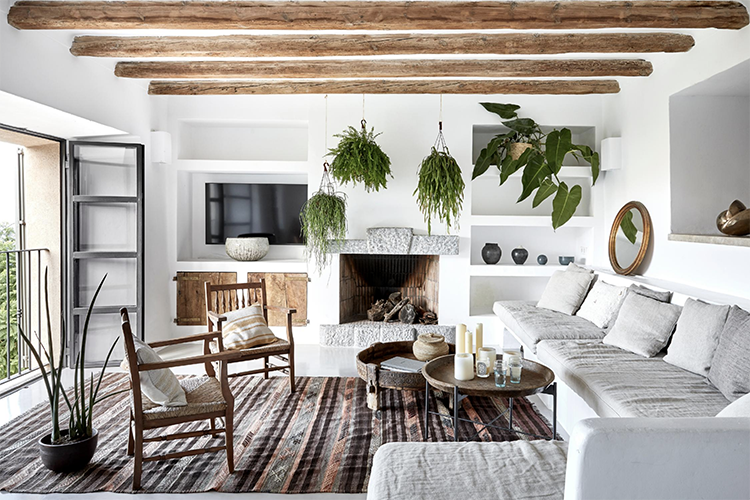Gorgeous Contemporary Rustic Villa With Scandinavian Influences Mediterranean Living Rooms Contemporary Home Decor Rustic Contemporary