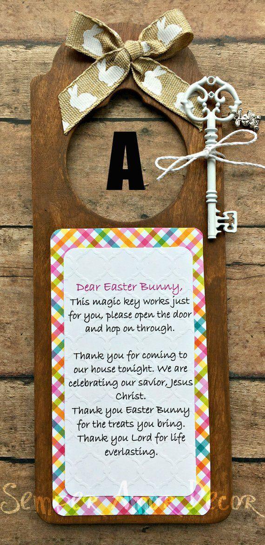 Easter Bunny Key, Magic Easter Bunny Key, Easter Bunny Door Hanger, Easter Bunny Magic Key, Easter K