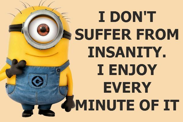 Insanity Funny Quotes Quote Crazy Funny Quote Funny Quotes Humor Minions Minion Quotes Weird Quotes Funny Funny Minion Quotes Minions Funny
