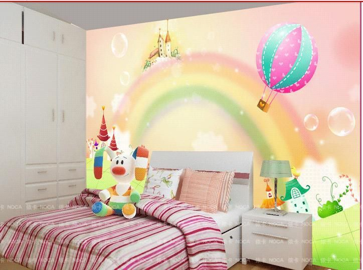 754963f45b1 Αυτοκόλλητο τοίχου για διακόσμηση παιδικού δωματίου με ουράνιο τόξο ...