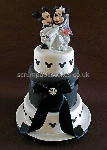 mickey minnie wedding cake