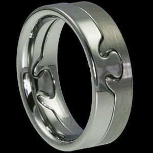 Puzzle Piece Wedding Bands Brilliant In 2018 Pinterest Cute