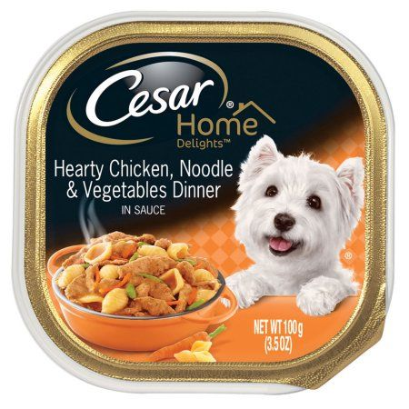 12 Pack Cesar Home Delights Wet Dog Food Hearty Chicken Noodle