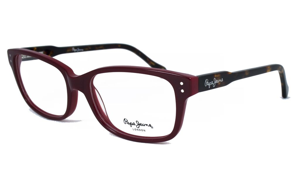 Gafas Pepe Jeans para Opticalia. Montura roja con varillas carey ...