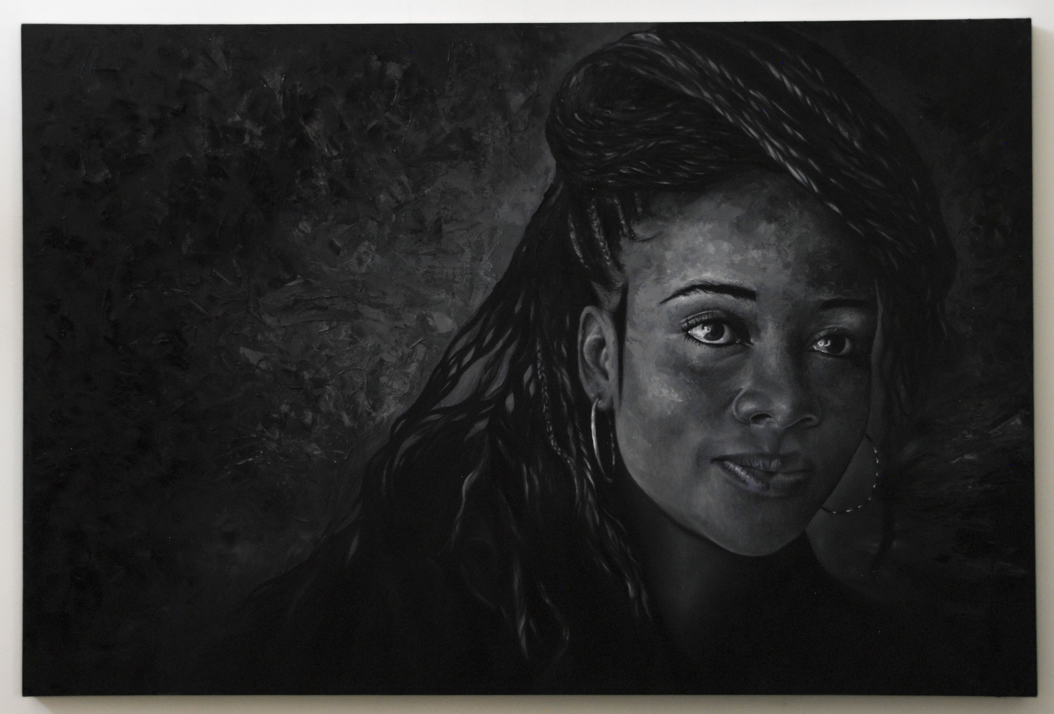 Óleo sobre lienzo (espátula) LUZ 150 x 100 cm.