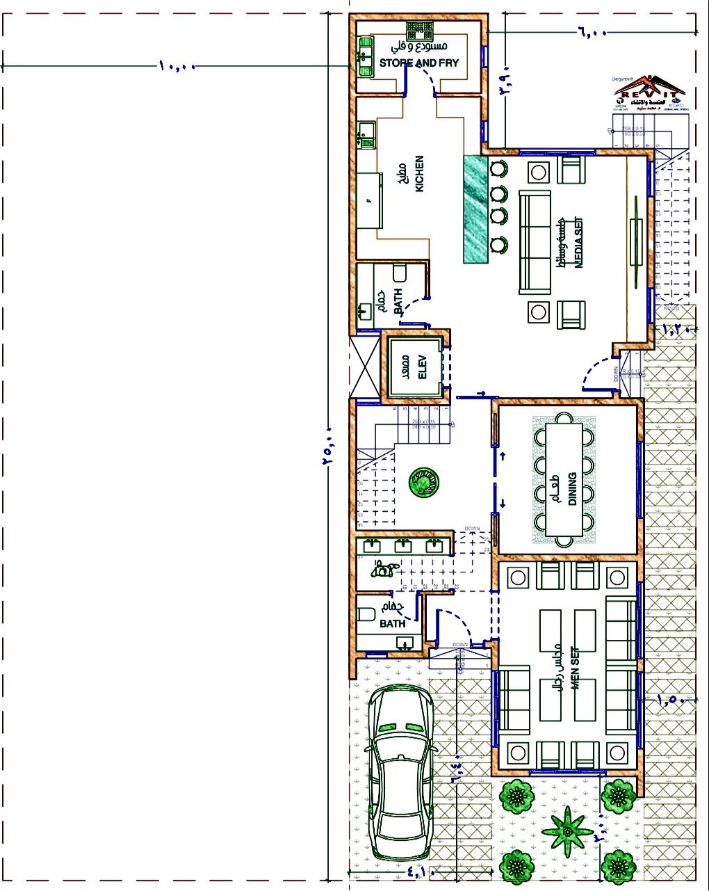 تصميم فيلا مودرن ايجي ريفت House Floor Plans Duplex Plans Floor Plans