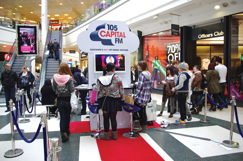 Exhibition Stand Attractors : Capital fm stand attracting the crowds making an exhibition of