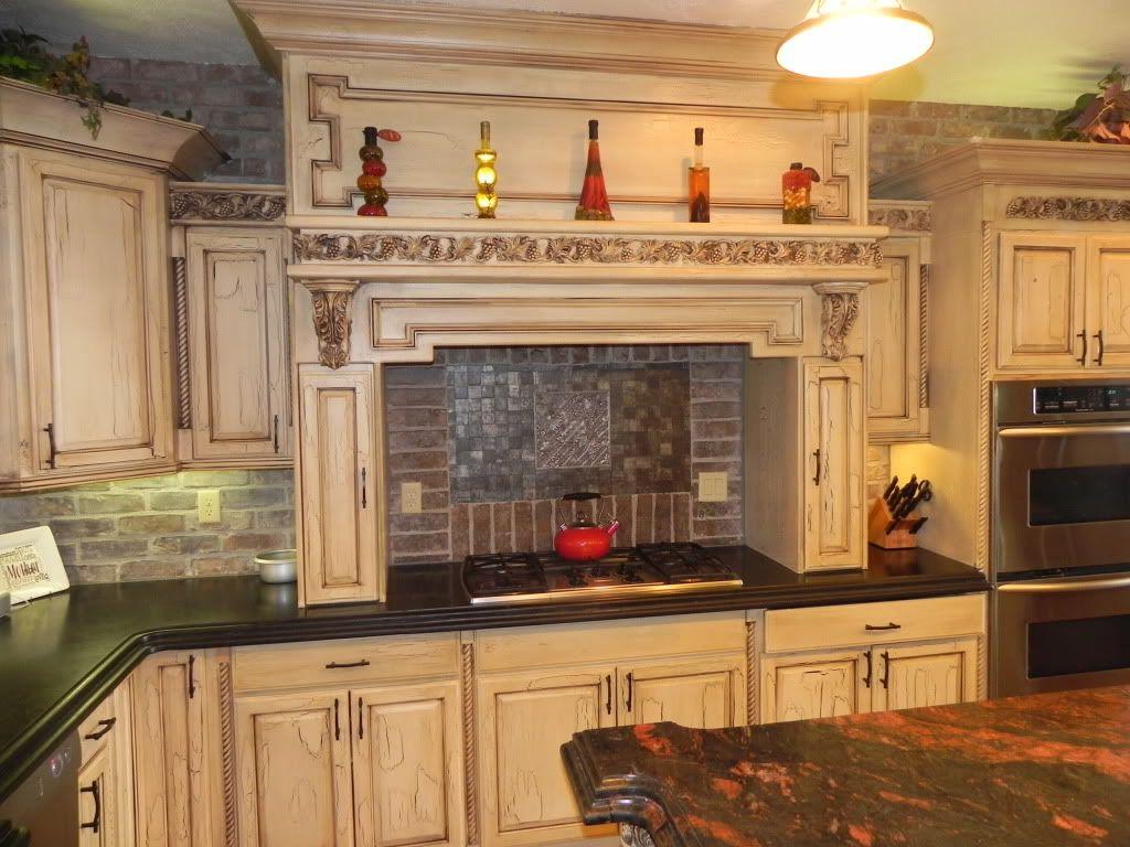 White Cabinets Tuscan Kitchen