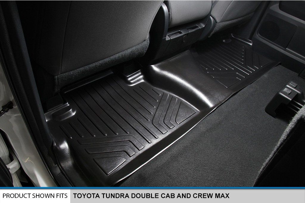 Smartliner Floor Mats 2nd Row Liner Black For 20142018 Toyota Tundra Double Cab Or Crewmax Cab For More Information Visit Toyota Tundra Cargo Liner Tundra