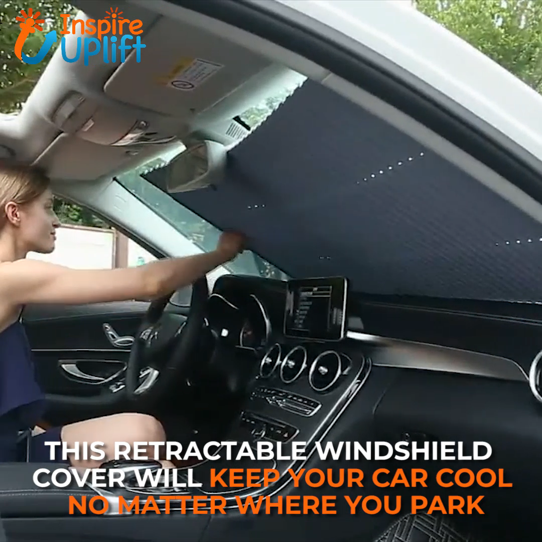 Car Retractable Windshield Cover 😍  The Car Retractable Windshield Cover with UV Protection is the perfect way to keep your car's internal temperature cooler and prevent the interior from being baked by the sun-No More FADED Interior! Windshield Cover crafted using only high-quality materials!  Currently 50% OFF with FREE Shipping!