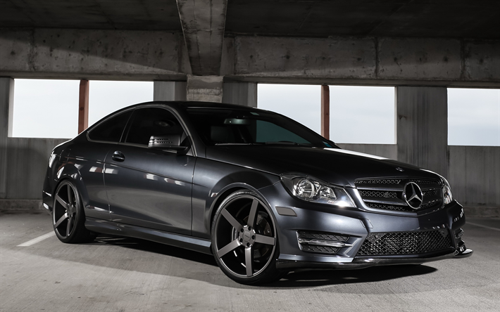 Wallpapers Mercedes Benz C Cl C250 Sports Coupe Gray Tuning German Cars
