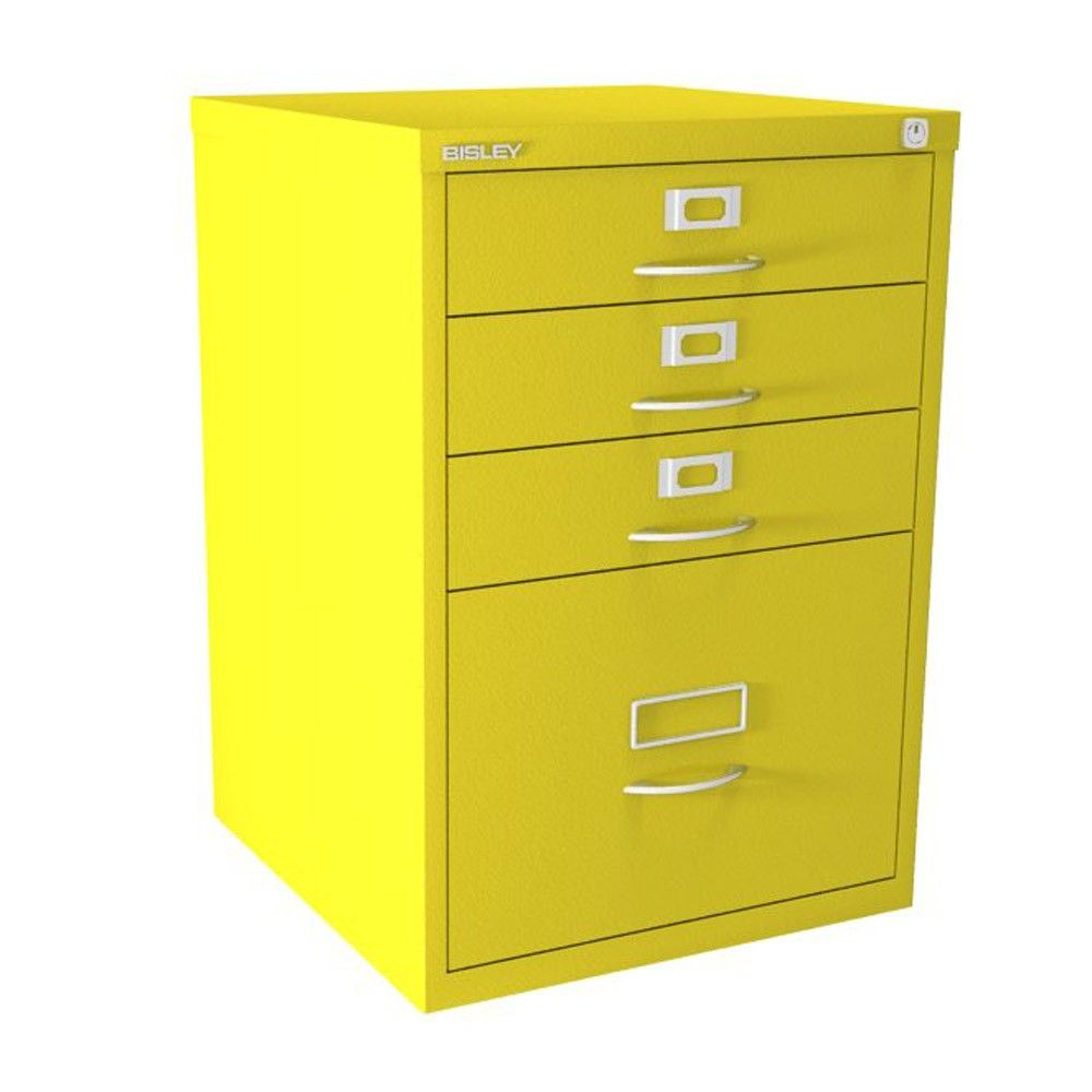4 Drawer F Series - Classic Front - Canary Yellow | A vibrant, eye-catching steel colour finish!!