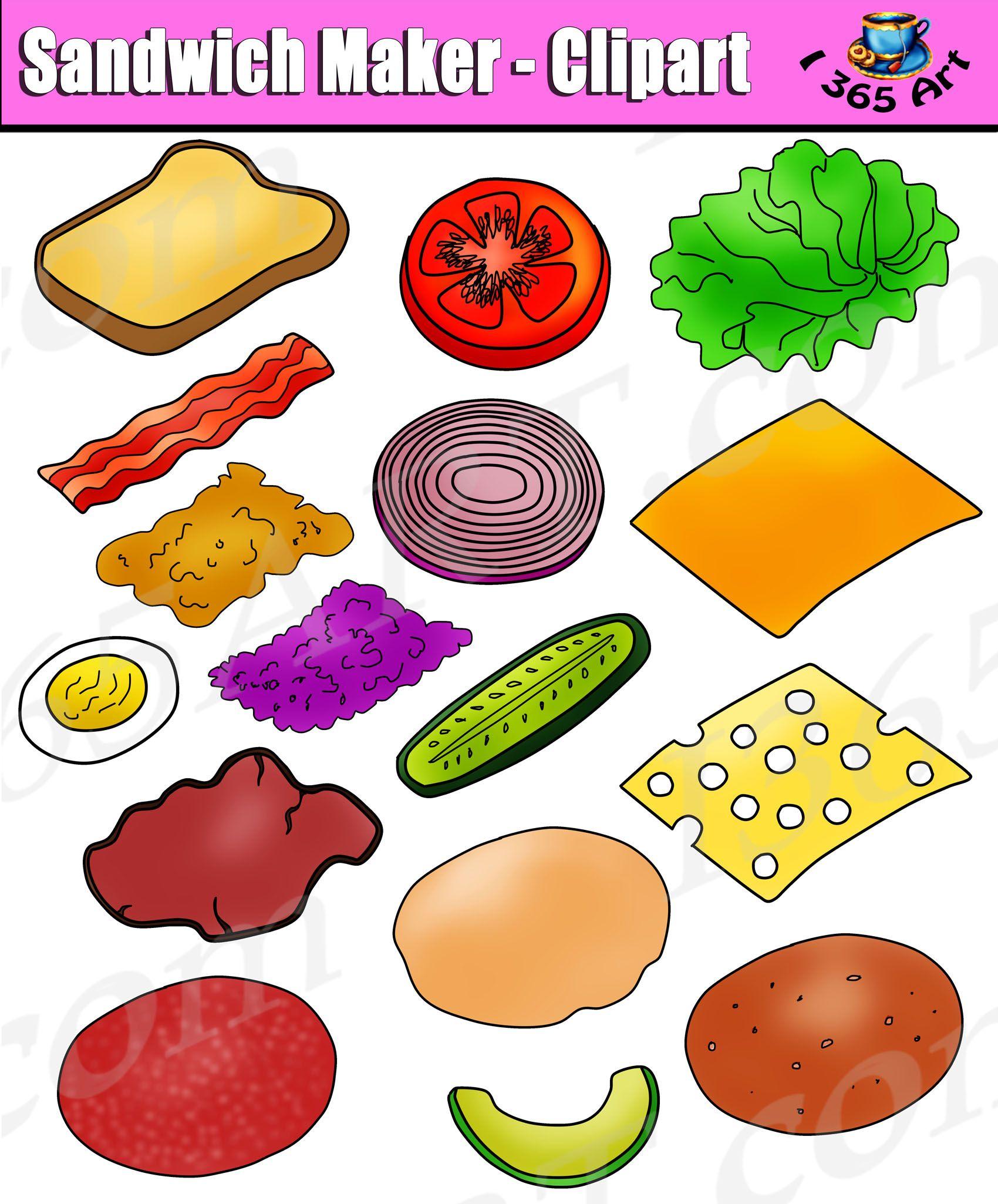 Build Sandwich Clipart Set