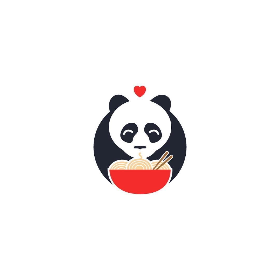 Panda Mark - Author Unkown - NEGATIVE SPACE LOGOS  @negativespacelogos @negativespacelogos - Want to be featured next? Follow us and tag #logoinspirations in your post