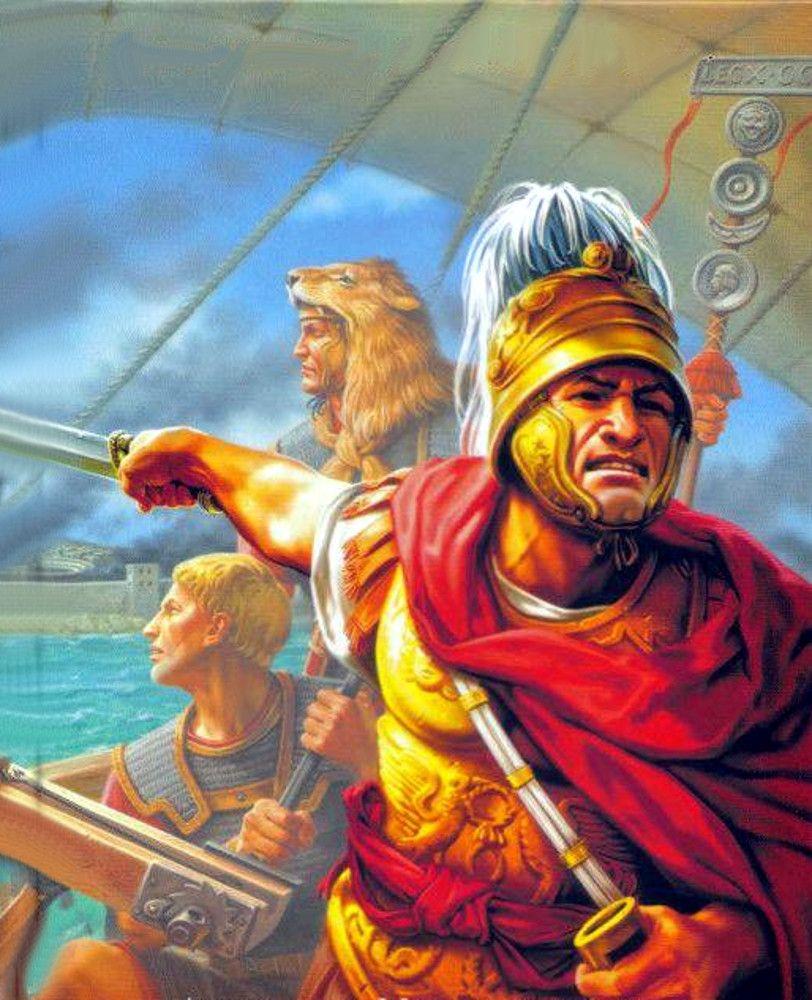 General Scipio directing the Roman fleet