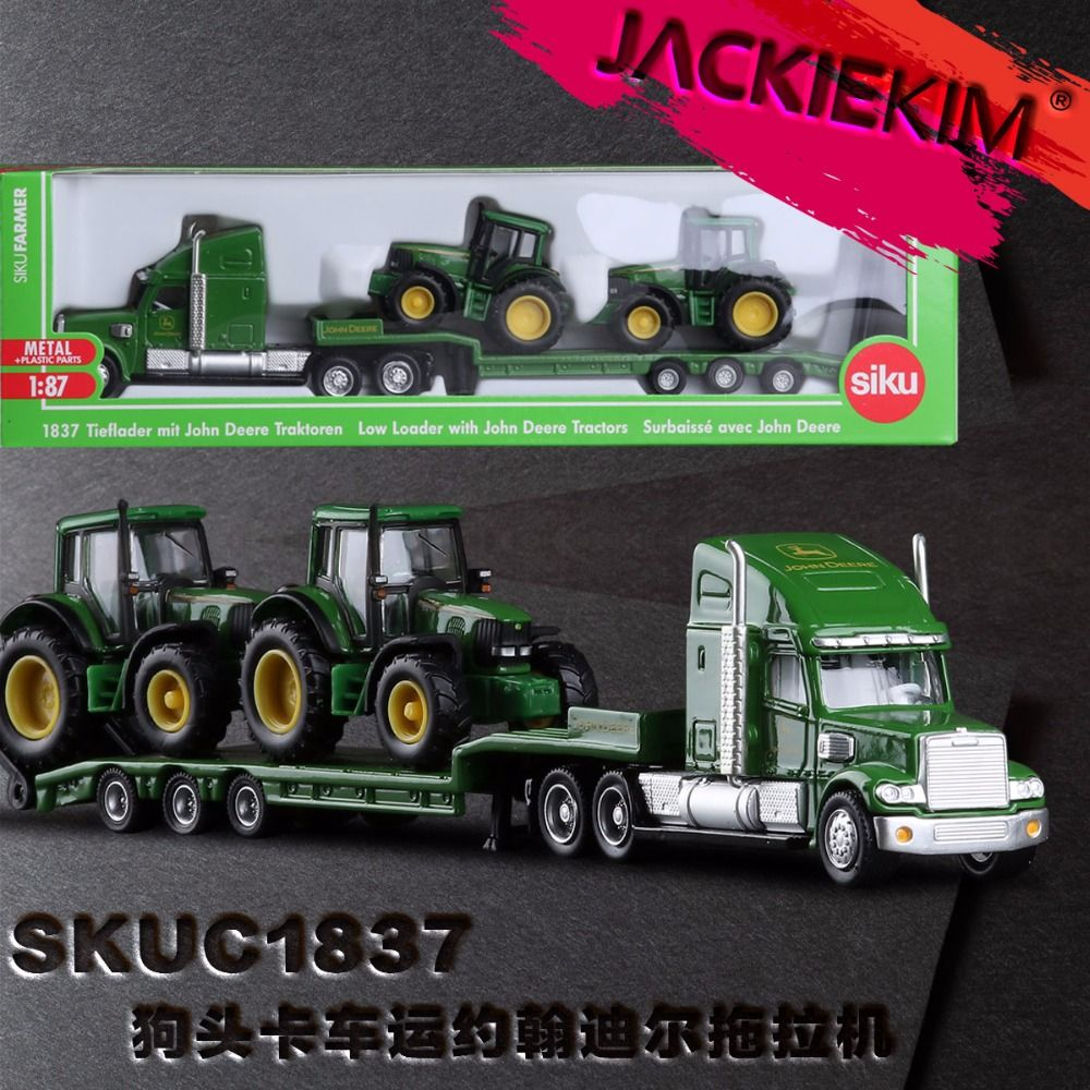 High Quality 1:87 Siku Truck With New Holland Tractors Model