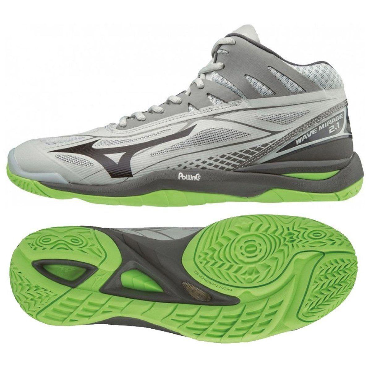 Mizuno Wave Mirage 2 1 Mid M X1ga187037 Shoes Grey Gray Silver Mizuno Shoes Shoes Mens