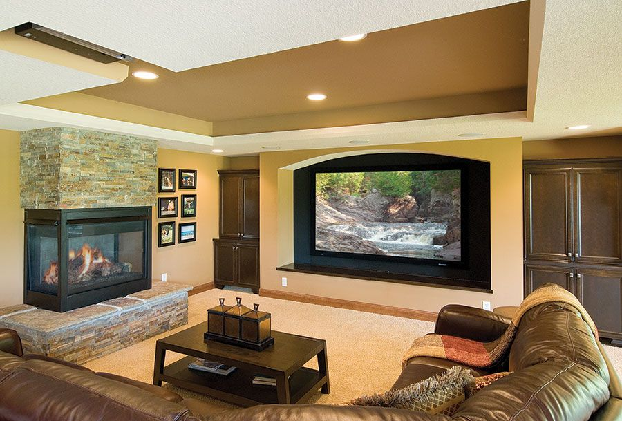 15 Awesome Basement Home Theater Cinema Room Ideas  Basements Fascinating Living Room Home Theater Ideas Inspiration Design
