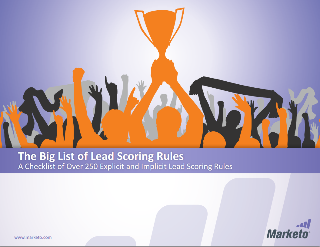 The Big List Of Lead Scoring Rules Marketo Inc