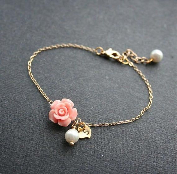 DARLING HER 9 Colors Leather Chain Charm Bracelets with DIY Fine Bracelet for Women Girls Jewelry Gift Pink 2 20cm