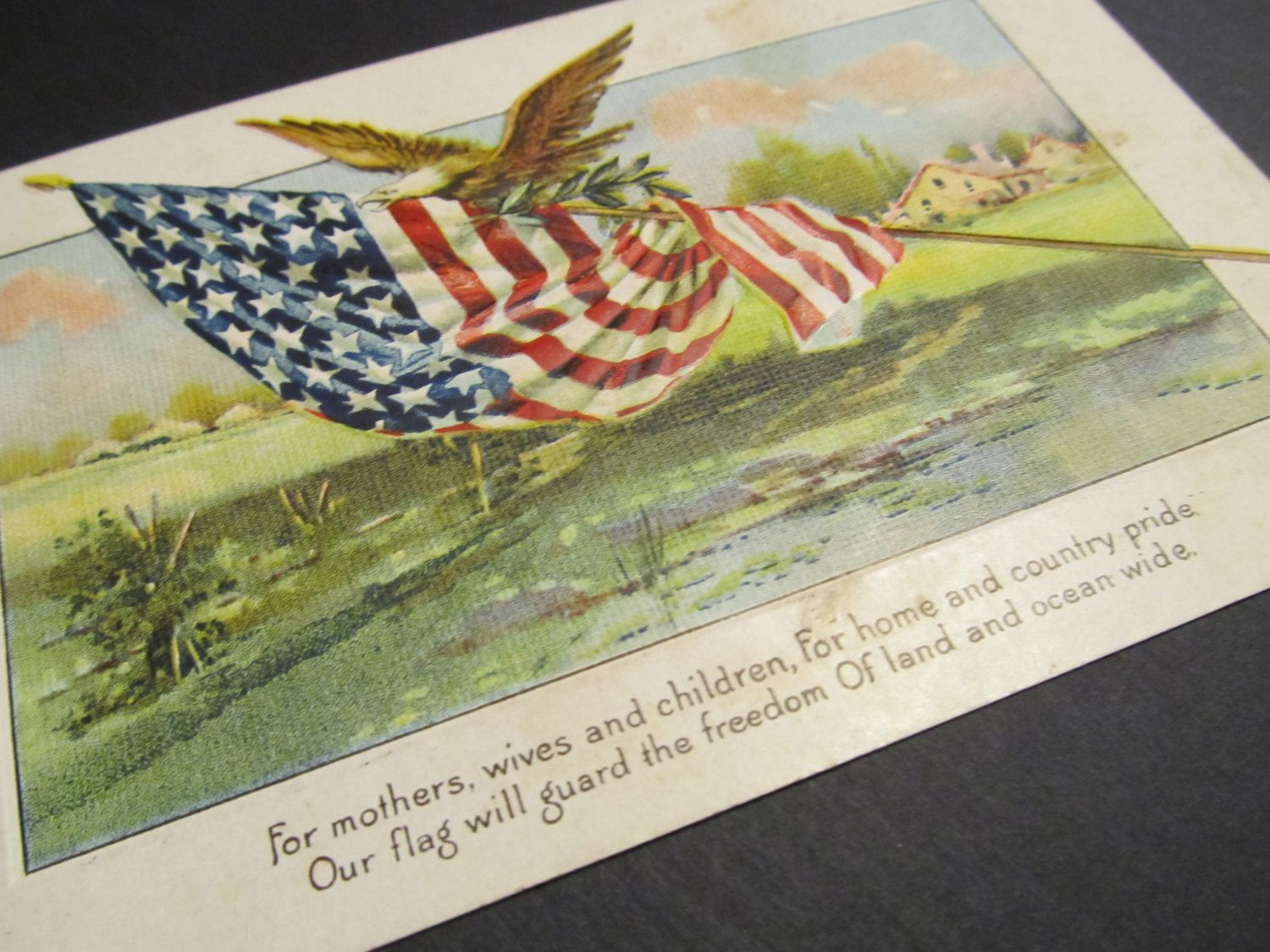 American pride postcard free shipping by