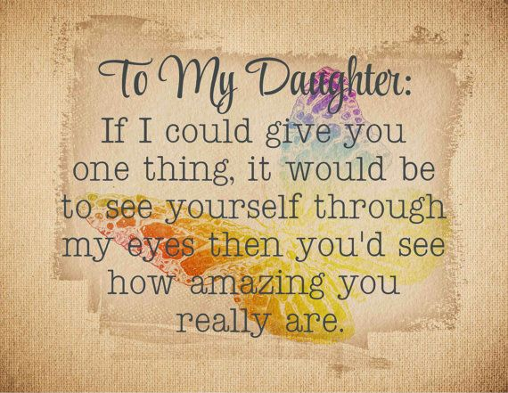Daughter Quote Inspirational Gift For Daughter Birthday: To My Daughter Wood Sign, Canvas Wall Art, Photo Clip