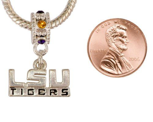 #Louisiana State University Charm with Connector Will Fit Pandora, Troll, Biagi and More. Can Also Be Worn As a Pendant. $6.99