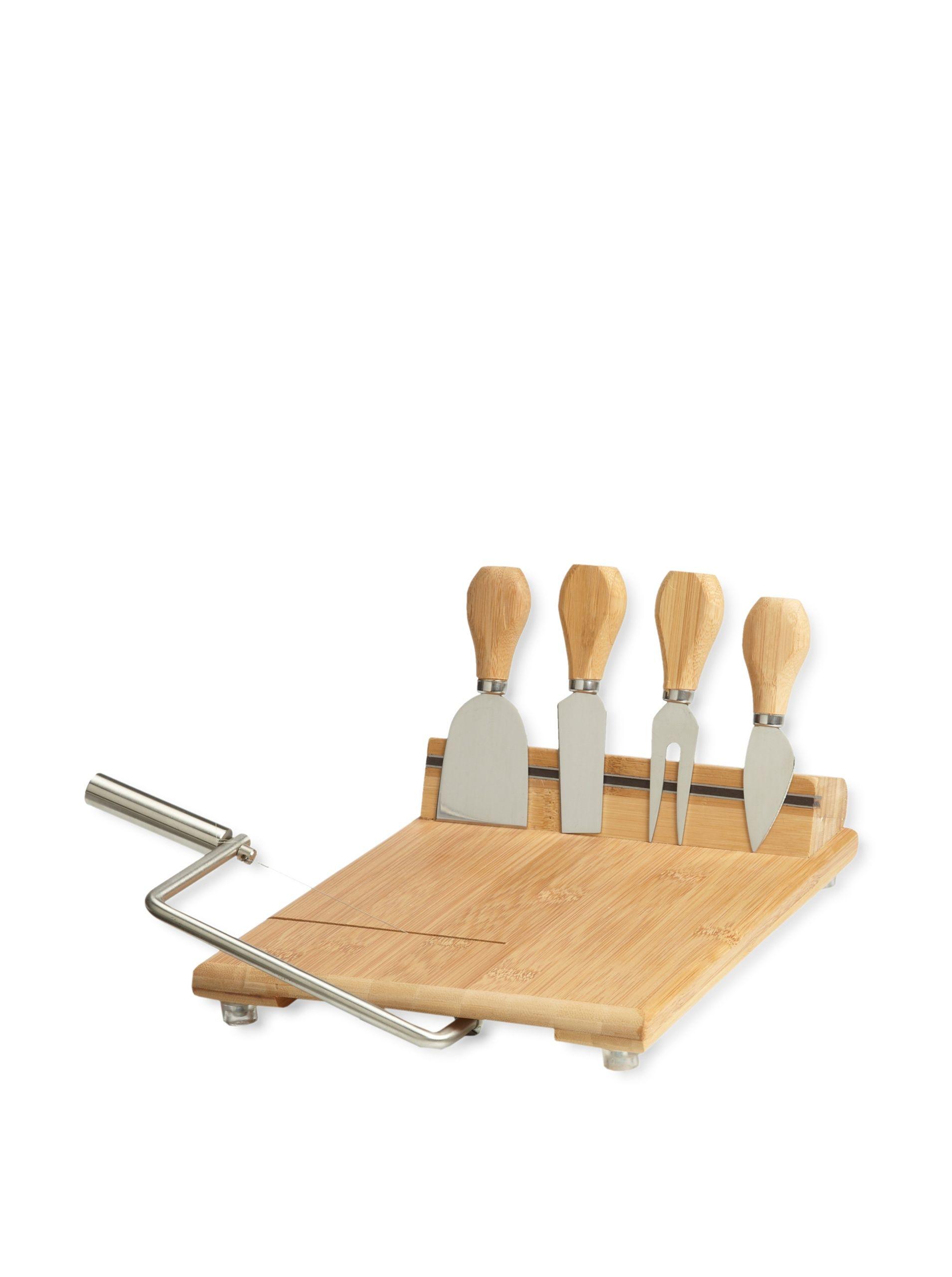 Picnic at Ascot Stilton Cheese Board Set, Natural Bamboo board with ...